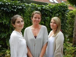 Freuen sich auf ihre Berufsausbildung bei der BRÜCKE: Hasret Icer, Anja Pantlofsky und Lisa-Loreen Kämpfer (v.l.)