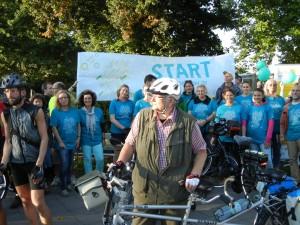 Viele Radler der BRÜCKE waren bei der Fahrrad-Aktion gegen Depression in Lübeck dabei