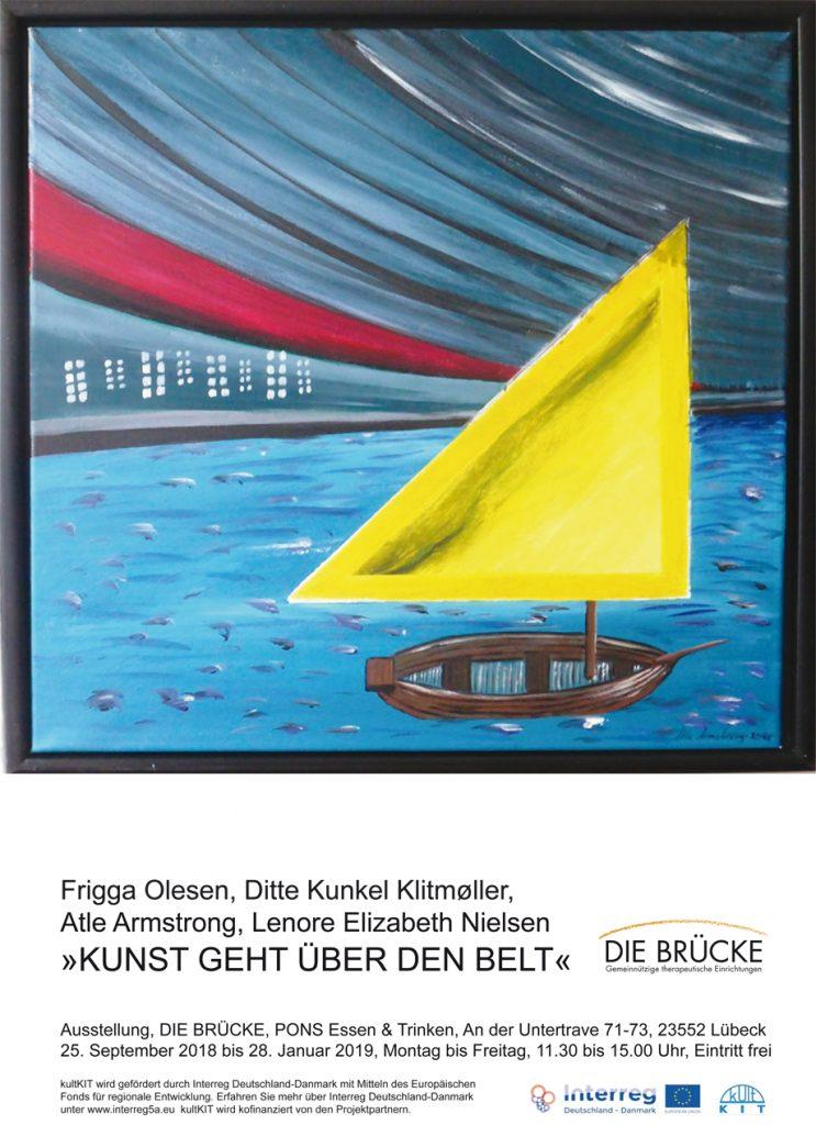 """Die """"Penselsvingere"""" aus dem dänischen Næstved stellen ihre Bilder bei der BRÜCKE im Restaurant PONS aus."""