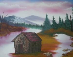 Seine Natur- und Landschaftsbilder malt Daniel Wyska mit Ölfarben