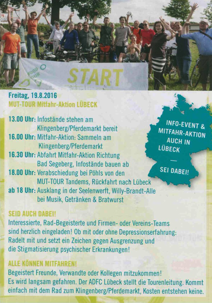 Programm der Mitmach-Aktion am 19. August in Lübeck