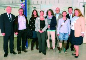Geschäftsführung und BRÜCKE-Mitarbeiter beim Empfang des Ministerpräsidenten von Schleswig-Holstein, Torsten Albig