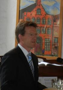 Führte durch die Festveranstaltung: Frank Nüsse, neuer Geschäftsführer der BRÜCKE gGmbH