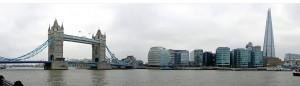 Die BRÜCKE zeigt Panoramafotografien von Anja Ludwig, hier die Tower-Bridge an der Themse